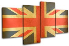 Union Jack Abstract Maps Flags - 13-1836(00B)-MP04-LO